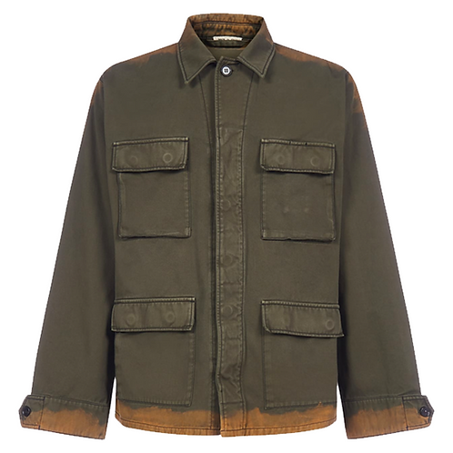 MARNI BLEACHED UTILITY JACKET ARMY