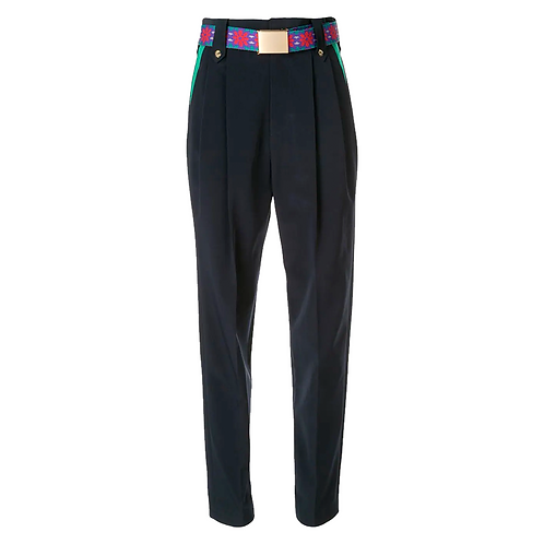 KOLOR TAPERED TROUSERS NAVY