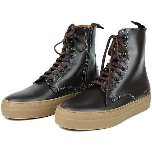 ROBERT GELLER x COMMON PROJECT THE COMBAT SNEAKER BROWN