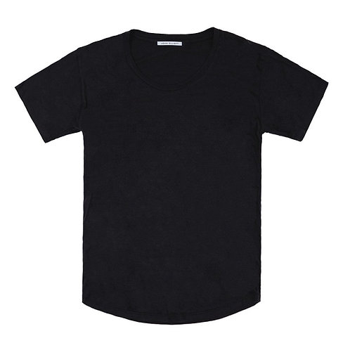 JOHN ELLIOTT CURVE U-NECK T-SHIRT BLACK