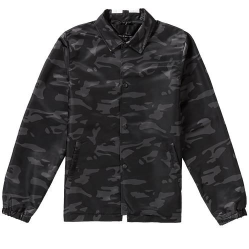 PYER MOSS JEON COACHES JACKET BLACK CAMOUFLAGE