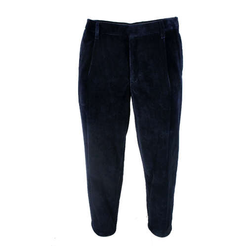 KOLOR VELVET TROUSERS NAVY