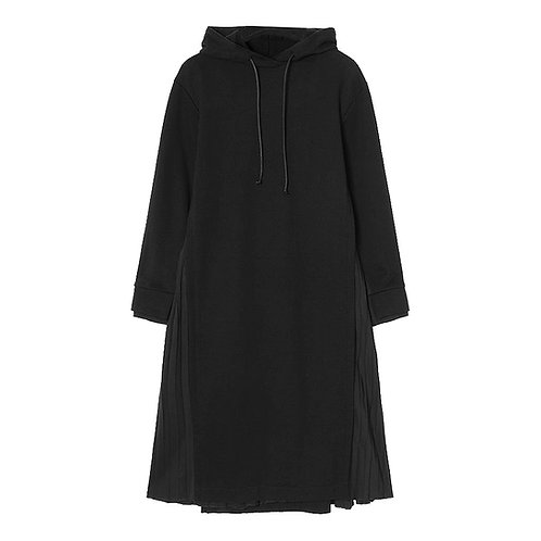 JUUN. J HOODED PLEATED DRESS