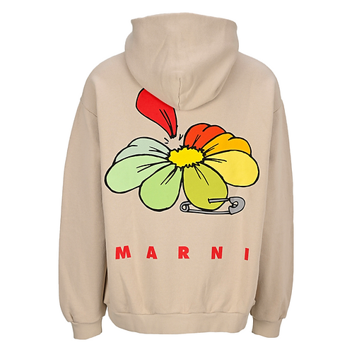 MARNI MULTI FLOWER HOODIE (OFF-WHITE)