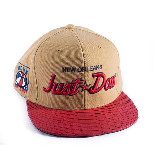 JUST DON SCRIPT CAMEL/RED RE:FRESH EXCLUSIVE