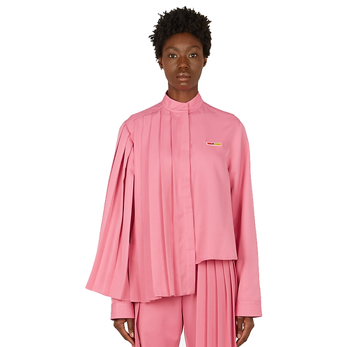 REEBOK by PYER MOSS PLEATED SHIRT PINK