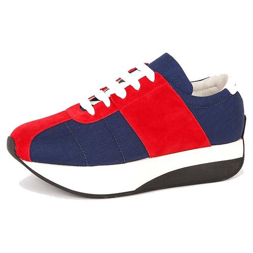 MARNI BIG FOOT NAVY/RED