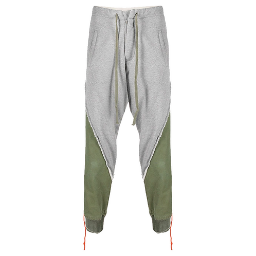 GREG LAUREN Fleece / Tent 50-50 Stacked Lounge Pants