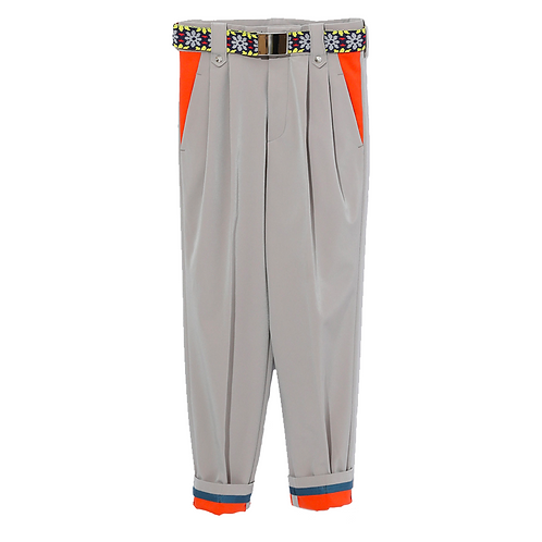 KOLOR TAPERED TROUSERS BEIGE