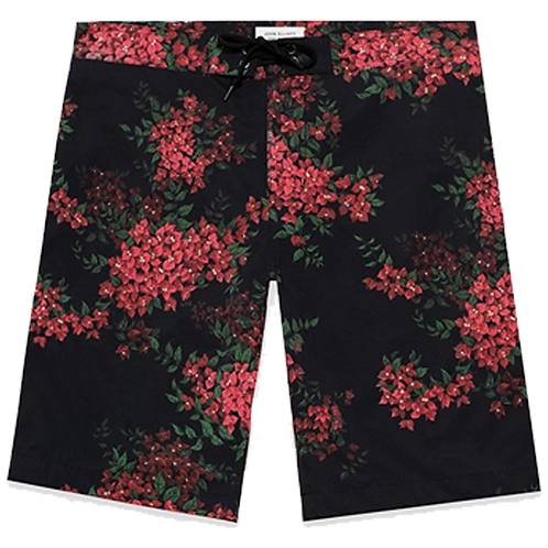 JOHN ELLIOTT SOLAR BOARD SHORTS BOUGAINVILLEA BLACK