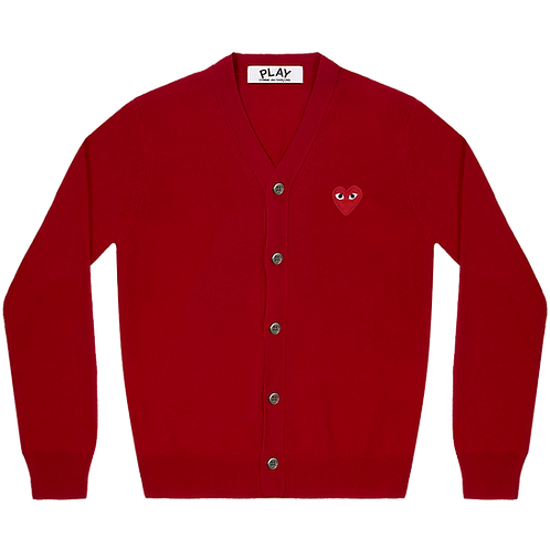 COMME des GARÇONS PLAY RED HEART CARDIGAN (RED)