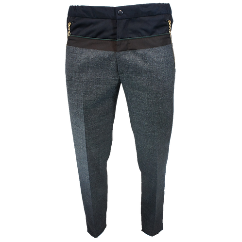 KOLOR SLIM LEG TROUSERS DARK BLUE