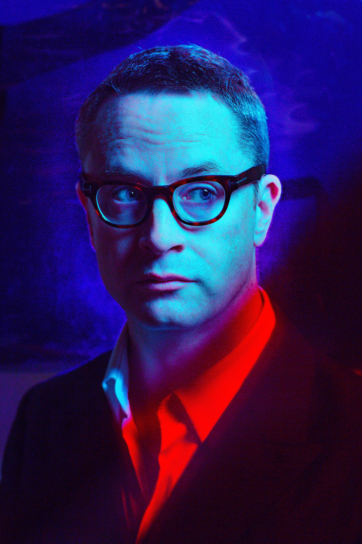 Director Nicolas Winding Refn, best known for DRIVE. Photographed for the American Cinematheque.