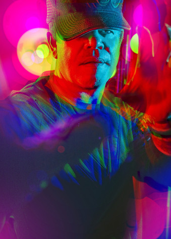 DJ and record producer Paul Oakenfold. Photographed for the American Cinematheque.