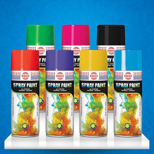 Акриловая аэрозольная спрей краска (Стандартные цвета) 400 мл