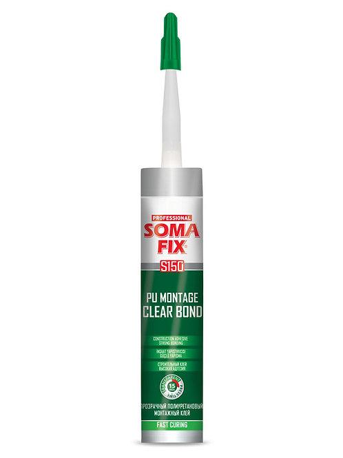 Полиуретановый монтажный клей прозрачный SOMA FIX S150 310 мл