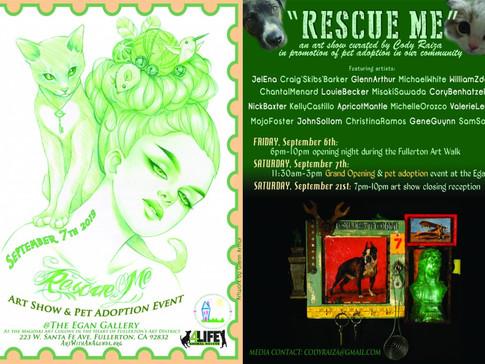 """""""Rescue Me"""" Art Show Closing Reception"""