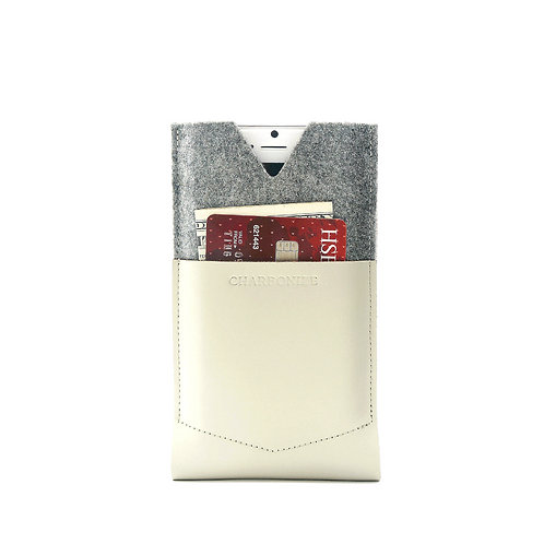 White Leather iPhone6,6S/6+,6S+ Wallet
