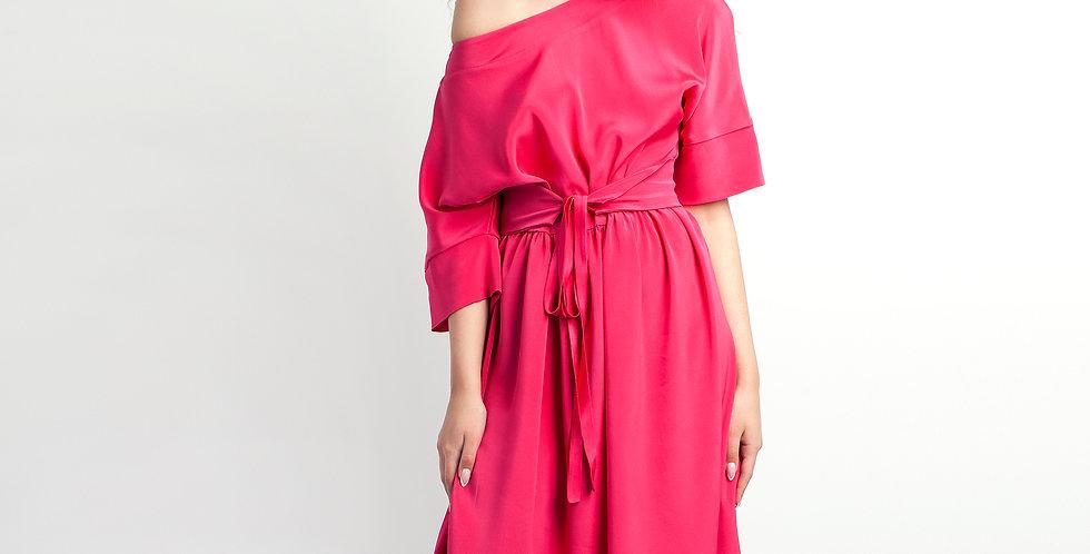 Платье оверсайз фуксия 3510