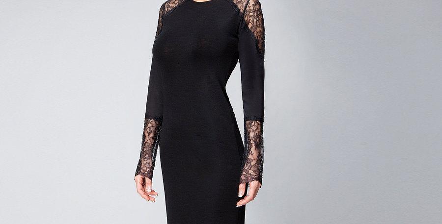 Трикотажное платье PL0012