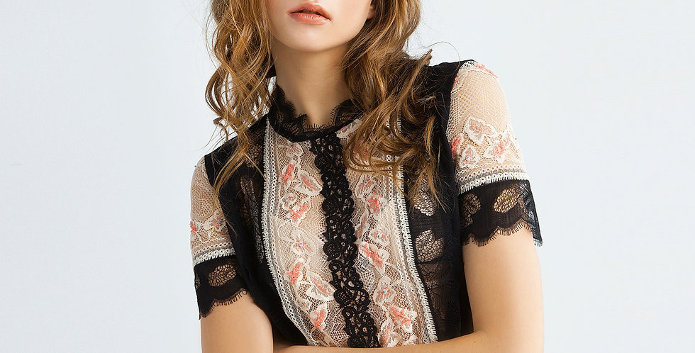 Кружевная блузка 3458
