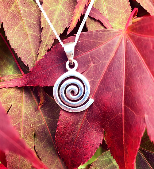 "Celtic Single Spiral Pendant with 6""x4""Signed Photo"
