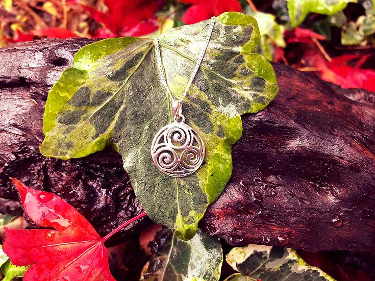 Small Celtic Newgrange Spiral Pendant
