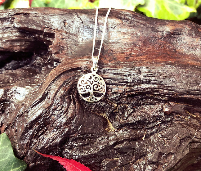 """Small Tree of Life Pendant with Cubic Zirona with 6""""x4"""" Signed Photo"""