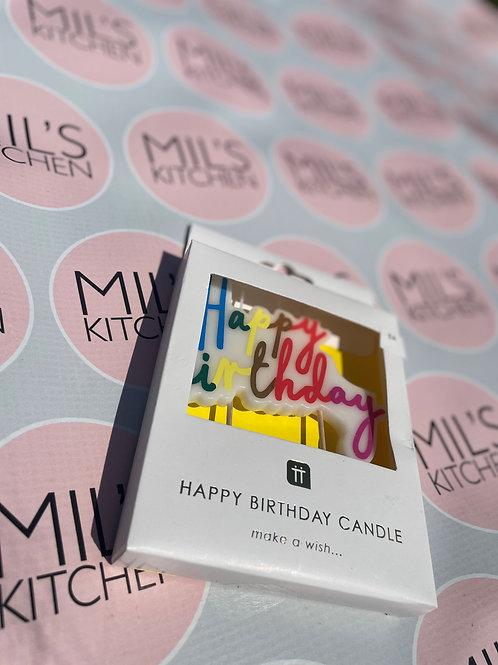 Rainbow Birthday Candle