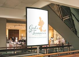 Indoor Advertising Poster GodsTreasures.