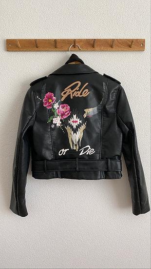 Ride or Die fake leather jacket