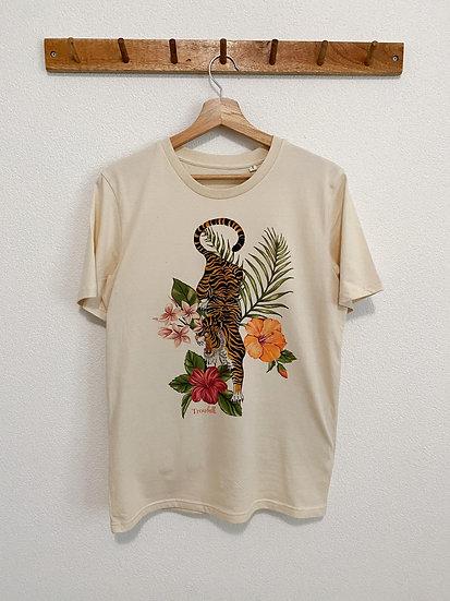 Vintage tiger flower t-shirt