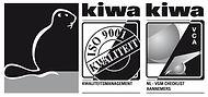 Kiwa logo ISO 9001 en VCA met Kiwa Bever