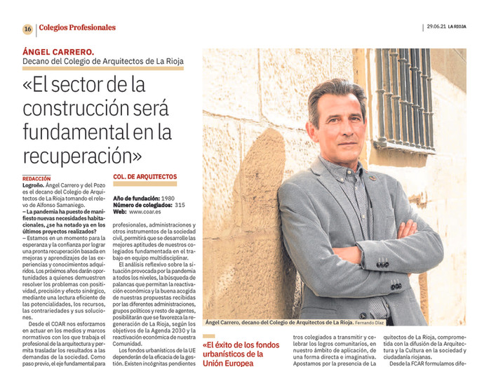 Entrevista a Ángel Carrero en La Rioja