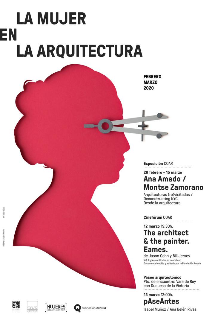Cartel La mujer en la arquitectura RGB.j