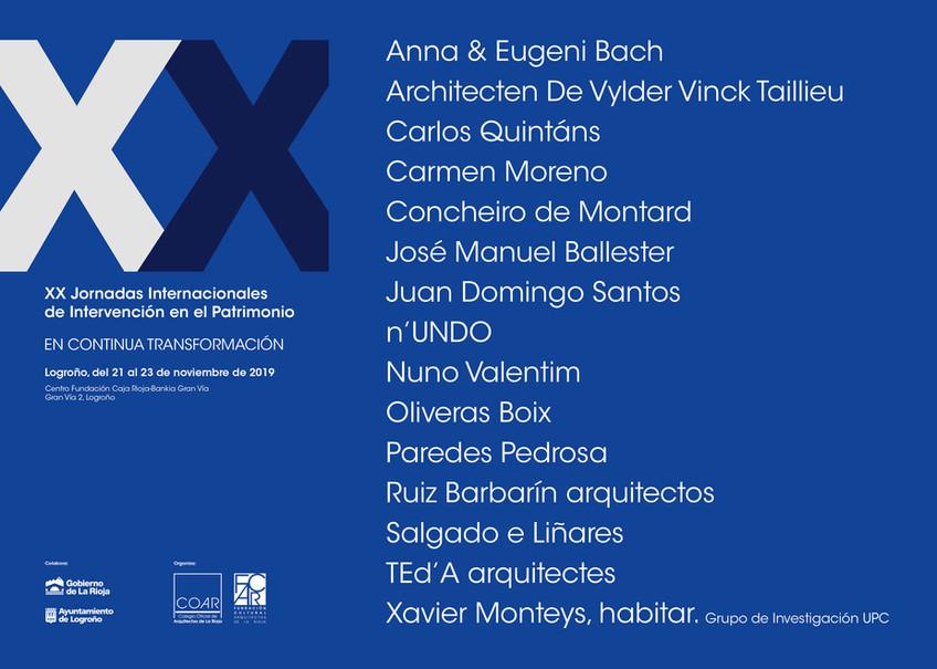 XX Jornadas de Patrimonio