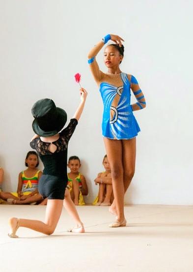 5th anniversary Rhythmic Gymnastics school show and competitions