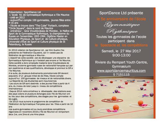 5me Anniversaire de L'ecole GR, programme /fr