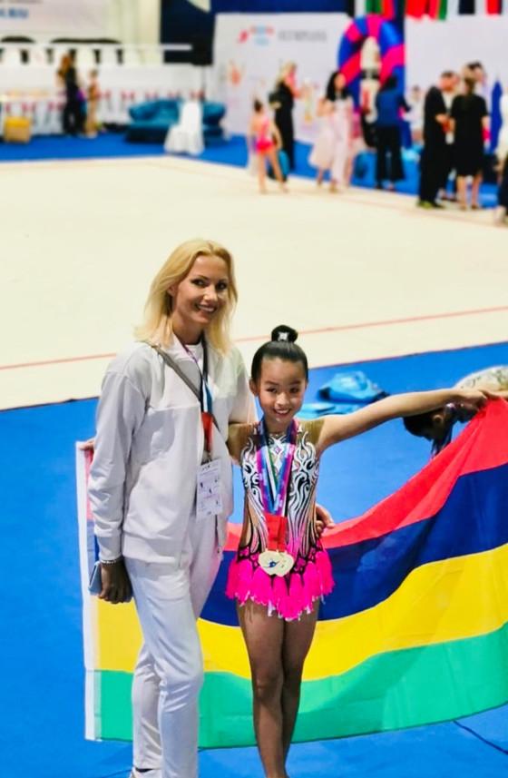 First International participation for Mauritius in Rhythmic Gymnastics