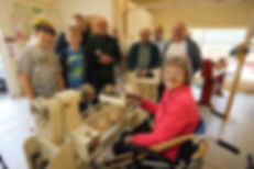 Woodturning from a seated position using an adapted 'One Way' lathe