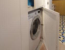 disimpegno zona servizi lavatrice slim lamiera microforata