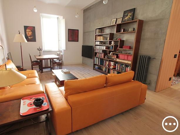 soggiorno cemento armato voltine a vista industrial design
