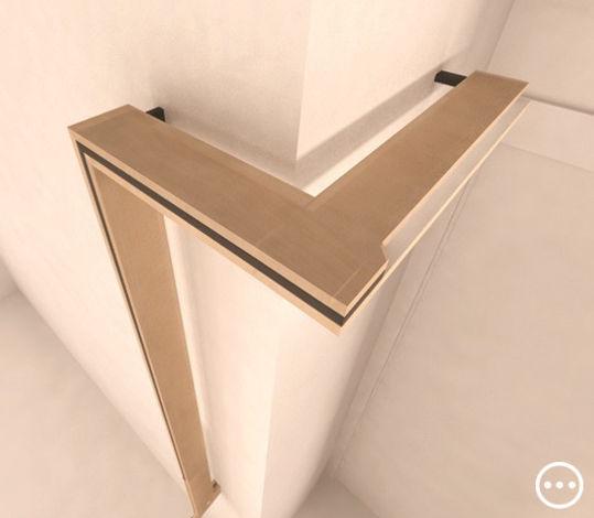 lampada abat-jour comodino armadio ambiente design legno alluminio