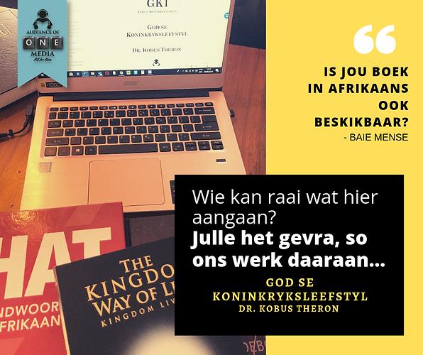 Is jou boek in Afrikaans ook beskikbaar_