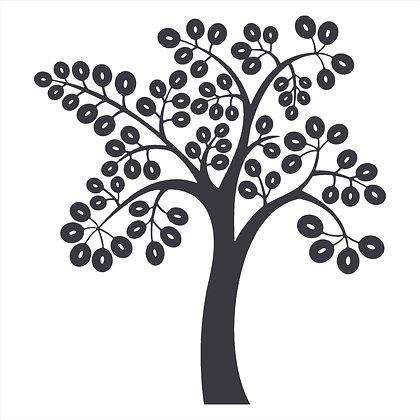Adesivo Recorte Árvore 120x130cm