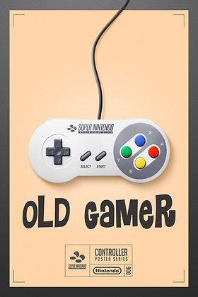 Placa Decorativa Old Gamer