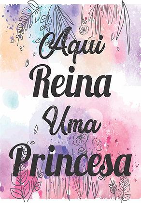 Placa Decorativa Princesa