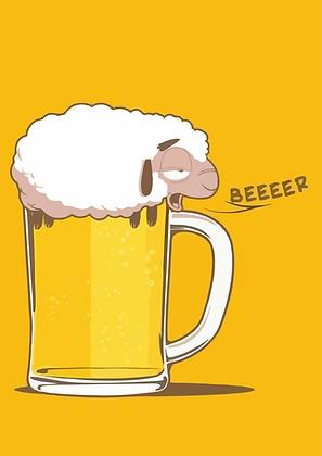 Placa Decorativa Sheep Beer