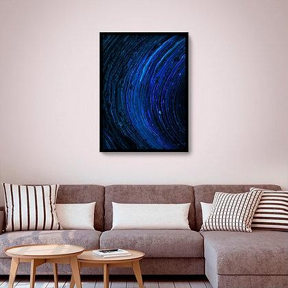 Quadro com moldura Galaxy