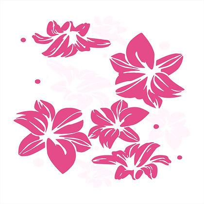 Adesivo de Recorte Flores 50x50cm